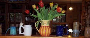 tulips ceramic jugs and mugs