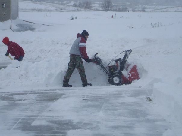 looks like fun doesn't it!  They got themselves a snowblower for Christmas.