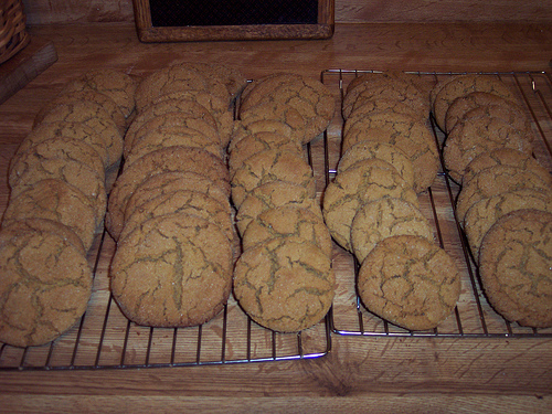 Ginger Cookies - nice and crunchy, rolled in sugar.