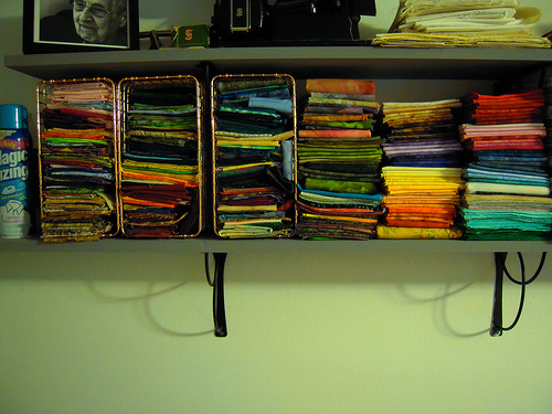 these are all batiks, moda marbles and that type of fabric.  All of these are fat quarters or close to that, some a little smaller and some a little bigger.