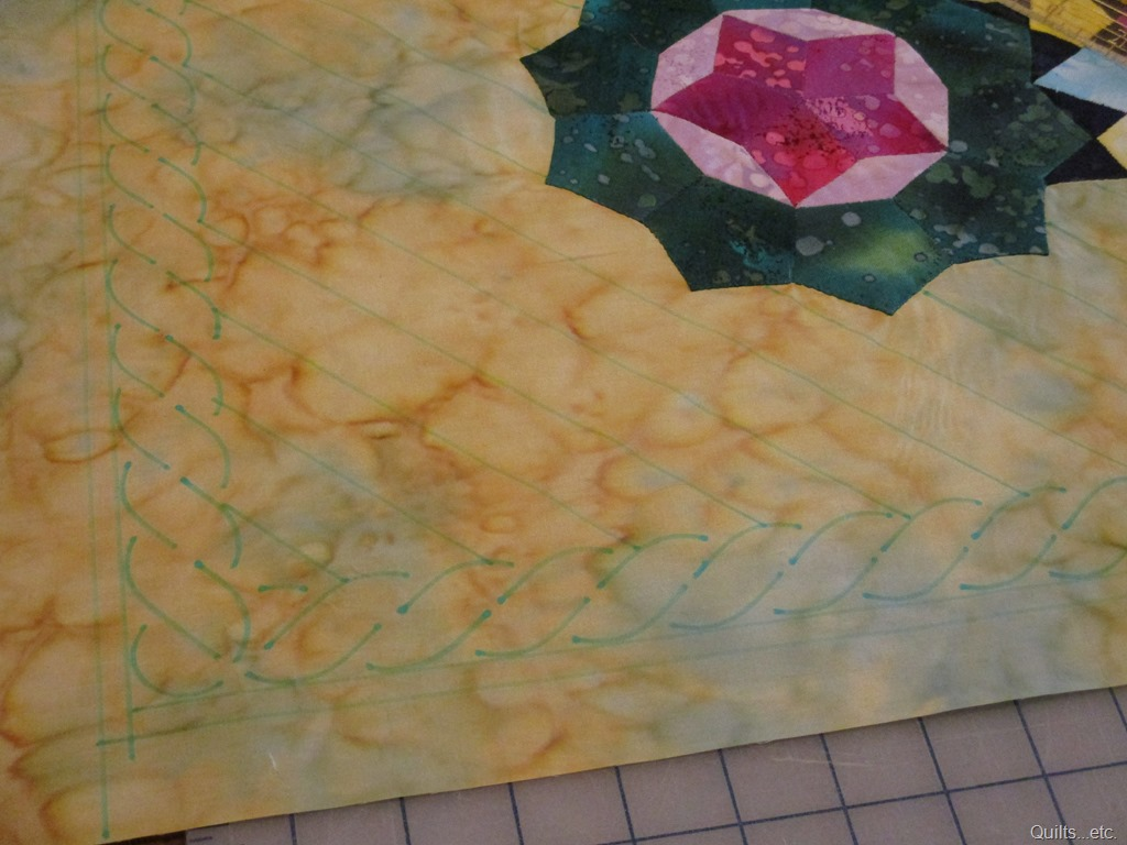 drawing quilt design