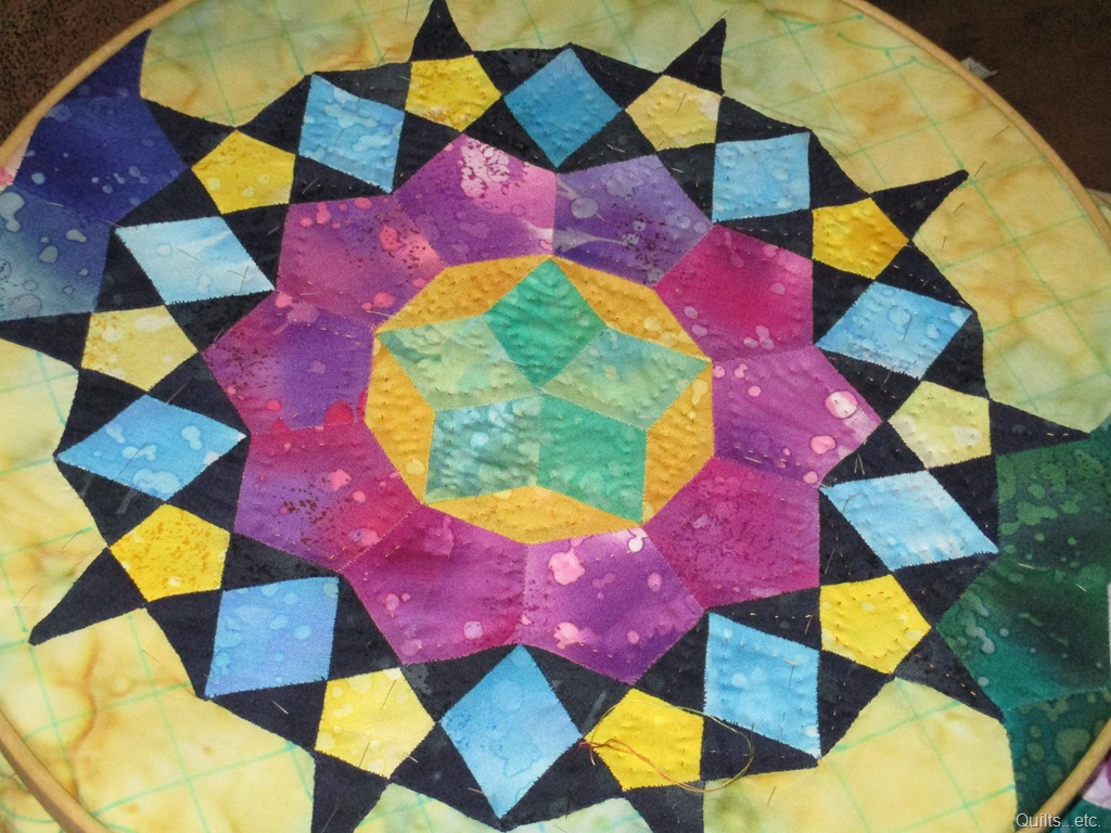 stain glass stars wall hanging