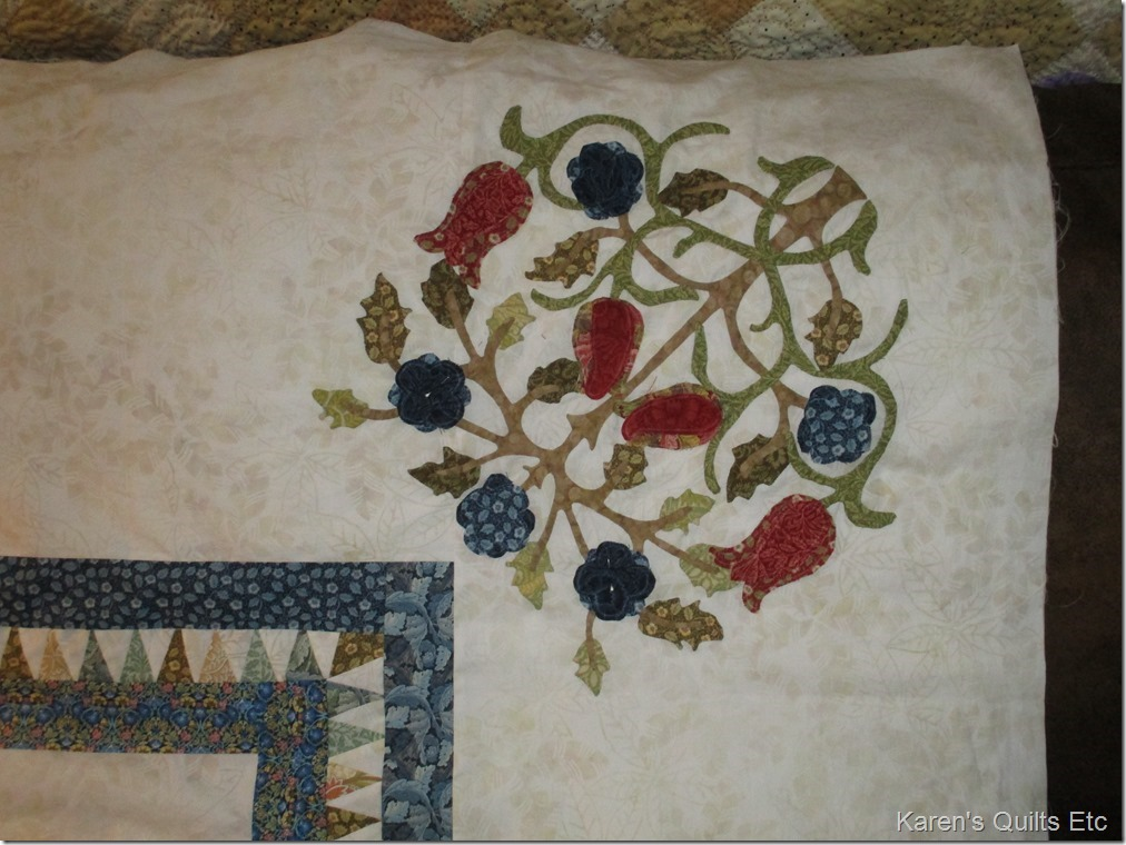Applique and a quilt top
